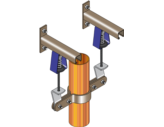 Gas Riser Pipe Supports