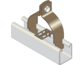 Two Piece Channel Clip with Barrier Strip