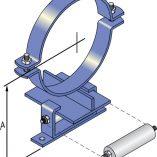 FM146 Light Duty Roller Guide - Copper Pipe
