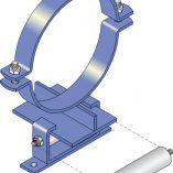 FM146 Light Duty Roller Guide - Steel Pipe