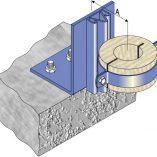 Floor Riser Guide and Timber Ferrule - Steel Pipe
